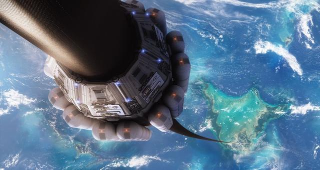那么太空电梯到底是怎样的呢? 为了理解太空电梯是怎样把我们送入太空的,我们必须首先理解什么是轨道。从根本上说,在轨道上就意味着会落向某物体,但运动速度快到掉不下来。如果你在地球上抛出一个球,它会在空中划出一道弧线,然后落到地面上。在太空中,重力也是让你以此方式运动的,但是如果你横向移动速度足够快,地球的曲率会使你远离下方地面的速度与引力把你拉向地球的速度一样快。所以,为进入地球轨道,火箭升空,然后沿横向快速飞行。