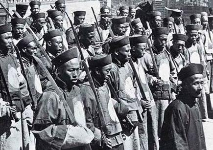 中国军人黑白手绘图片