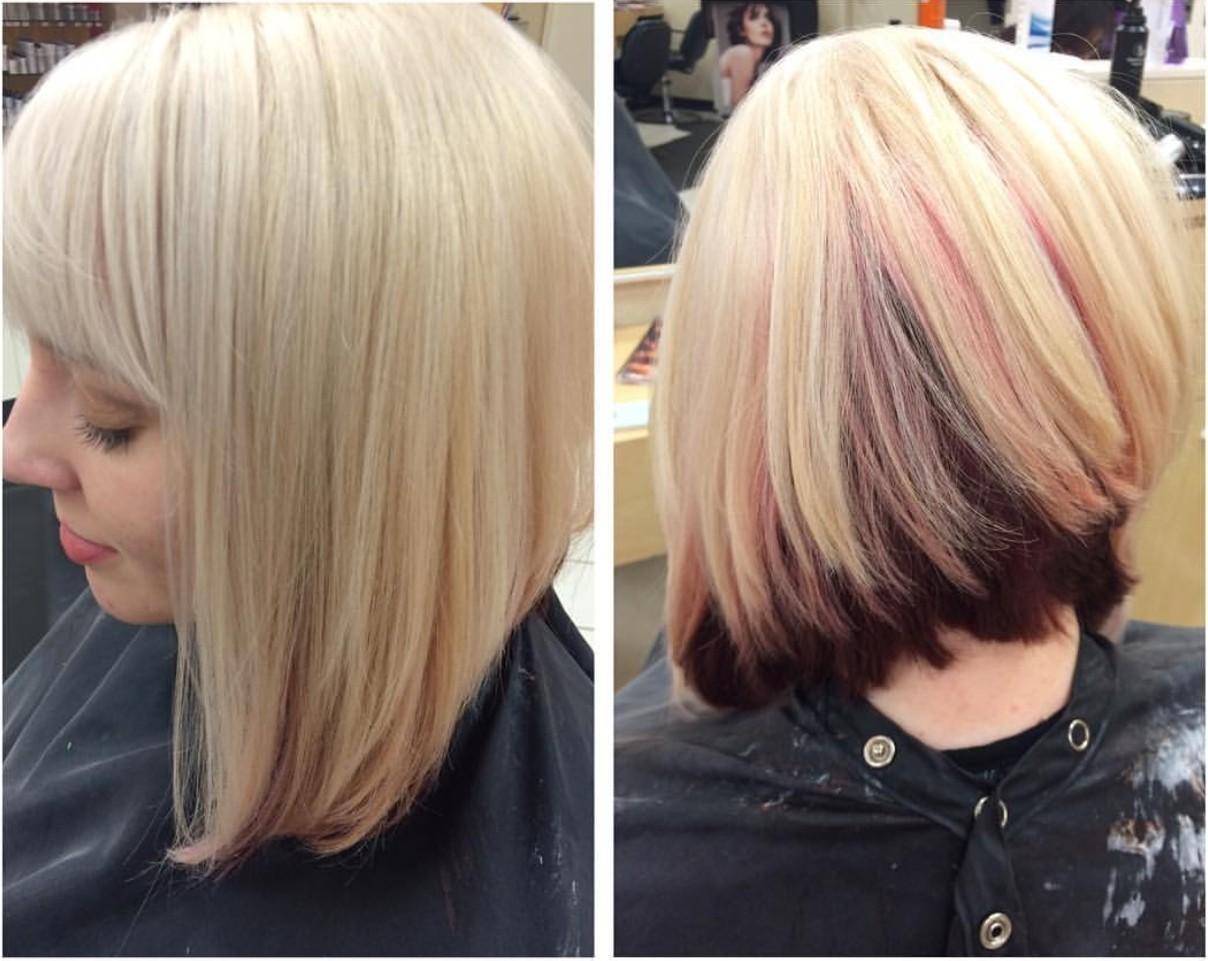 这个姑娘的头发里藏着彩虹~再扎个丸子头美极了!图片