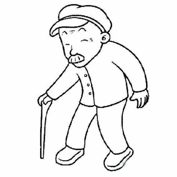老人简笔画,儿童人物简笔画教程,关于老人的简笔画图片,怎么画老爷爷主拐杖的简笔画画法,人物简笔画老年人的简单画法.